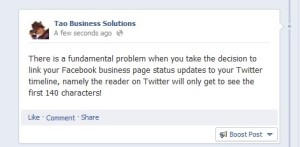 Facebook & Twitter Updates – To Link, or Not To Link? | Tao